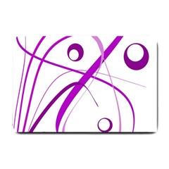 Purple elegant design Small Doormat