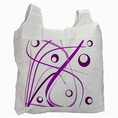 Purple elegant design Recycle Bag (Two Side)