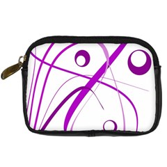 Purple elegant design Digital Camera Cases