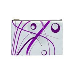 Purple elegant design Cosmetic Bag (Medium)