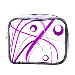 Purple elegant design Mini Toiletries Bags