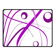 Purple elegant design Fleece Blanket (Small)