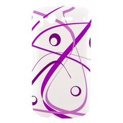 Purple elegant design HTC Desire S Hardshell Case