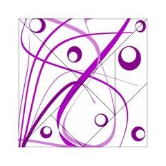 Purple elegant design Acrylic Tangram Puzzle (6  x 6 )