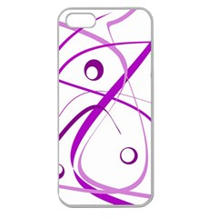 Purple elegant design Apple Seamless iPhone 5 Case (Clear)