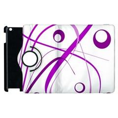 Purple elegant design Apple iPad 2 Flip 360 Case