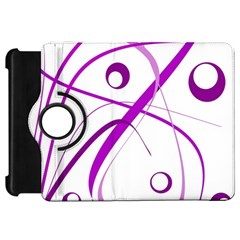 Purple elegant design Kindle Fire HD Flip 360 Case
