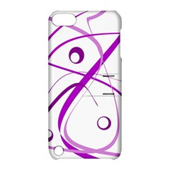Purple elegant design Apple iPod Touch 5 Hardshell Case with Stand