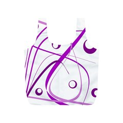 Purple elegant design Full Print Recycle Bags (S)