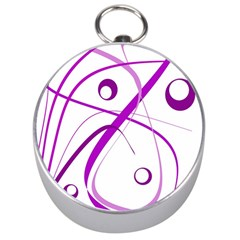 Purple elegant design Silver Compasses