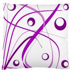 Purple elegant design Large Flano Cushion Case (One Side)