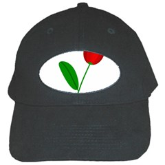 Red tulip and bee Black Cap