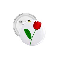 Red tulip and bee 1.75  Buttons