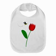 Red tulip and bee Bib