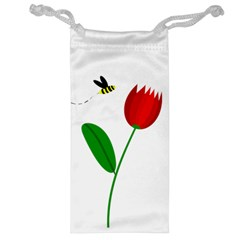 Red tulip and bee Jewelry Bags