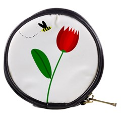 Red tulip and bee Mini Makeup Bags