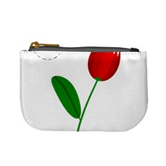 Red tulip and bee Mini Coin Purses