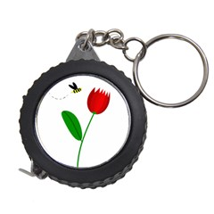 Red tulip and bee Measuring Tapes