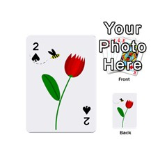 Red tulip and bee Playing Cards 54 (Mini)
