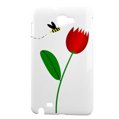 Red tulip and bee Samsung Galaxy Note 1 Hardshell Case
