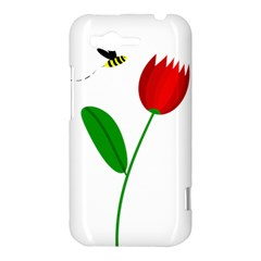 Red tulip and bee HTC Rhyme