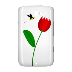 Red tulip and bee HTC ChaCha / HTC Status Hardshell Case