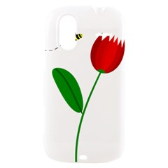 Red tulip and bee HTC Amaze 4G Hardshell Case