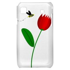 Red tulip and bee Samsung Galaxy S i9000 Hardshell Case