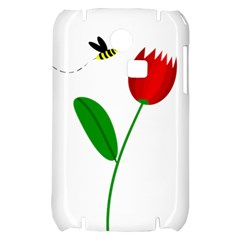 Red tulip and bee Samsung S3350 Hardshell Case
