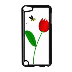 Red tulip and bee Apple iPod Touch 5 Case (Black)