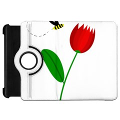 Red tulip and bee Kindle Fire HD Flip 360 Case