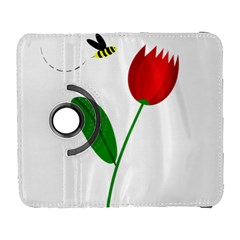Red tulip and bee Samsung Galaxy S  III Flip 360 Case