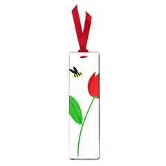 Red tulip and bee Small Book Marks