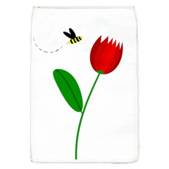 Red tulip and bee Flap Covers (L)