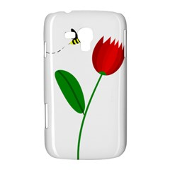 Red tulip and bee Samsung Galaxy Duos I8262 Hardshell Case