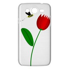 Red tulip and bee Samsung Galaxy Mega 5.8 I9152 Hardshell Case