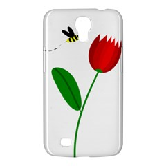 Red tulip and bee Samsung Galaxy Mega 6.3  I9200 Hardshell Case