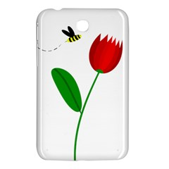Red tulip and bee Samsung Galaxy Tab 3 (7 ) P3200 Hardshell Case