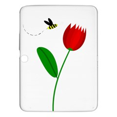Red tulip and bee Samsung Galaxy Tab 3 (10.1 ) P5200 Hardshell Case