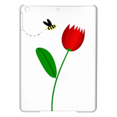 Red tulip and bee iPad Air Hardshell Cases