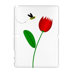 Red tulip and bee Samsung Galaxy Note 10.1 (P600) Hardshell Case