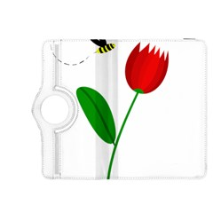 Red tulip and bee Kindle Fire HDX 8.9  Flip 360 Case