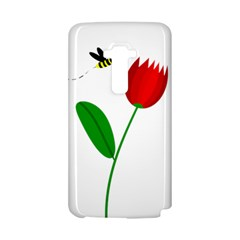 Red tulip and bee LG G Flex