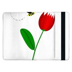 Red tulip and bee Samsung Galaxy Tab Pro 12.2  Flip Case