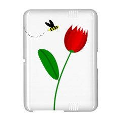 Red tulip and bee Amazon Kindle Fire (2012) Hardshell Case