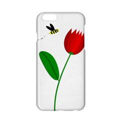 Red tulip and bee Apple iPhone 6/6S Hardshell Case