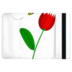 Red tulip and bee iPad Air 2 Flip