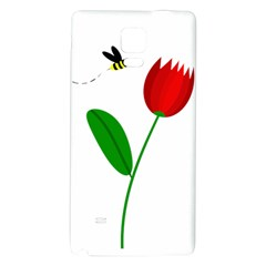 Red tulip and bee Galaxy Note 4 Back Case