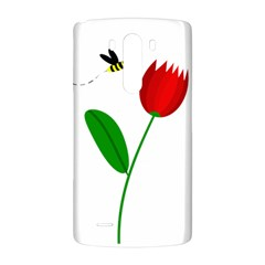 Red tulip and bee LG G3 Back Case