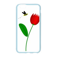 Red tulip and bee Apple Seamless iPhone 6/6S Case (Color)